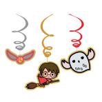 Harry Potter Swirl Decorations - 6 PKG/6