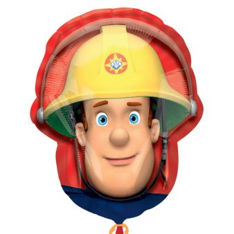 "Fireman Sam Head SuperShape Foil Balloons 23""/60cm h P38 - 5 PC"