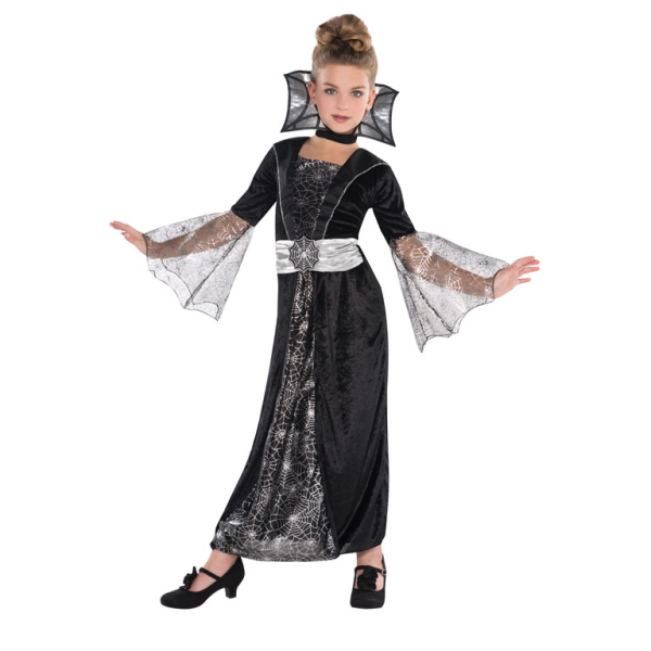 girls dark countess costume age 8 10 years 1 pc