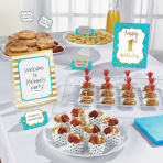 1st Birthday Boy Buffet Decorating Kits - 6 PKG/12