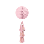 Rose Gold Blush Hanging Honeycomb Decorations 71cm - 12 PC