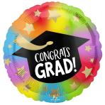 Colourful Congrats Grad Standard HX Foil Balloons S40 - 5 PC