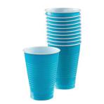 Caribbean Blue Plastic Cups 355ml- 10 PKG/20