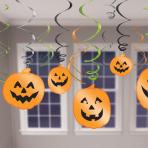 Halloween Hanging Swirl Decorations - 12 PKG/12