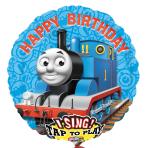 Thomas Happy Birthday Jumbo Sing-A-Tune XL Foil Balloon - P75 Plays: Thomas Birthday Message