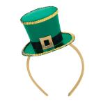 St Patrick's Day Top Hat Fascinator 40.6cm x 21cm - 3 PC