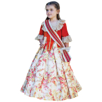 Pretty as a Princess Floral Countess Costume - Age 6-8 Years - 1 PC