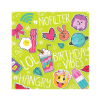 Selfie Celebration Luncheon Napkins 33cm - 12 PKG/16