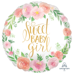 Floral Baby Standard Satin XL Foil Balloons S40 - 5 PC