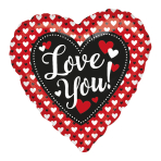 Heart to Heart Love You! Standard HX Foil Balloons S40 - 5 PC