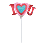 I Heart You MiniShape Satin Luxe Foil Balloons A30 - 5 PC