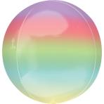 "Ombre Rainbow Orbz Packaged Foil Balloons 15""/38cm w x 16""/40cm h G20 - 5 PC"