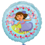 Dora The Explorer  Non Message Foil Balloon  - Standard - S60 5 PC