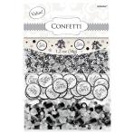 Scroll Value Confetti - Black - 12 PKG/3