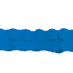 Bright Royal Blue Paper Garlands 3.65m - 6 PC