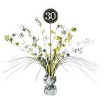Gold Sparkling Celebration 30th Spray Centrepieces 33cm - 6 PC