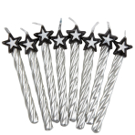 Silver Candles with Star - 12 PKG/8