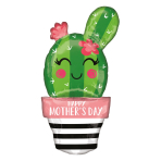 "Happy Mother's Day Cactus SuperShape XL Foil Balloons 18""/45cm x 35""/88cm P30 - 5 PC"