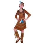 Girls Dream Catcher Native American Costume - Age 8-10 Years - 1 PC