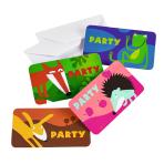 Animals Invitations & Envelopes - 10 PKG/8