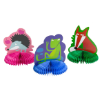 Animals Fluffy Decorations with cutouts - 10 PKG