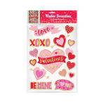 Valentine's Embossed Window Stickers - 9 PC