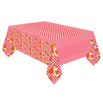 Pizza Party Paper Tablecovers 1.37m x 2.6m - 6 PC