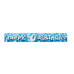 Happy 50th Birthday Foil Banners 2.7m - 12 PKG