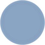 Pastel Blue Paper Plates 23cm - 12 PKG/8