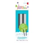 Thin Black & White Sparkling Candles 17.7cm - 36 PKG/18