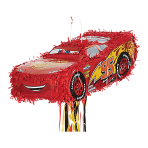 Lightning McQueen Pull Pinatas - 4 PC