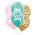 """Boho Girl Latex Balloons 11""""/28cm - 6 PKG/6"""