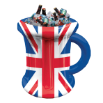 Great Britain Inflatable Beer Mug  - 35cm w x 45cm h - 6 PKG