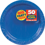 Bright Royal Blue Paper Plates 23cm - 6 PKG/50