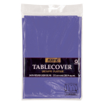New Purple Plastic Round Plastic Tablecovers 2.13m - 12 PC