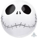 """Orbz Jack Skellington Foil Balloons 15""""/38cm w x 16""""/40cm h G40 - 5 PC"""