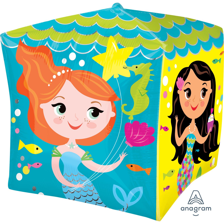 Happy Birthday To You Mermaids Cubez Foil Balloons G20 - 5