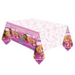Paw Patrol Pink Plastic Tablecovers 1.37m x 2.43m - 6 PC