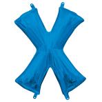 """Letter X Blue Minishape Foil Balloons 16""""/40cm A04 - 5 PC"""