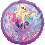 My Little Pony Friendship Adventure Happy Birthday Holographic Standard HX Foil Balloons S60 - 5 PC