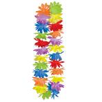 Box of Multi Coloured Flower Leis - 1m 4 PKG/25