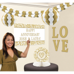 Gold Elegant Scroll Personalised Room Decoration Kits- 6 PKG/10