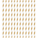 Gold Paper Straws 19cm - 12 PKG/24