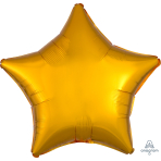 Metallic Gold Star Standard Packaged Foil Balloons S15 - 5 PC