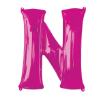"Letter N Pink SuperShape Foil Balloons 34""/""86cm P50 - 5 PC"