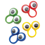Bulk Packed Goggley Eye Rings - 160 PC