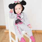 Disney Minnie Mouse Jersey Romper with Hood - Age 9-12 Months - 1 PC