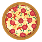 Pizza Party Paper Plates 18cm - 12PKG/8
