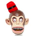 Red Fez Monkey Full Head Mask - 1 PC