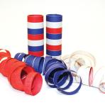 Red, White & Blue Serpentine Rolls  - 4mm x 14mm (9 throws per roll) 24 PKG/3
